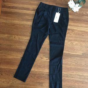 Hanii y Wool Pleat Front Black Skinny Pants Career